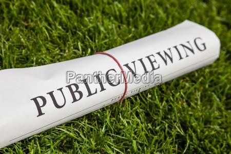public viewing newspaper