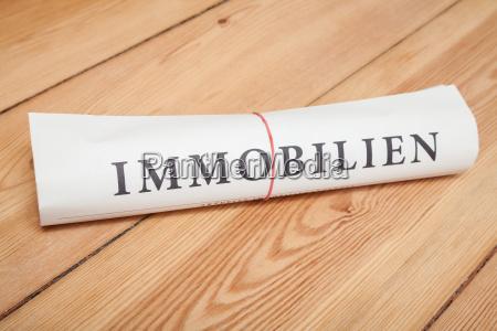immobilien newspaper german