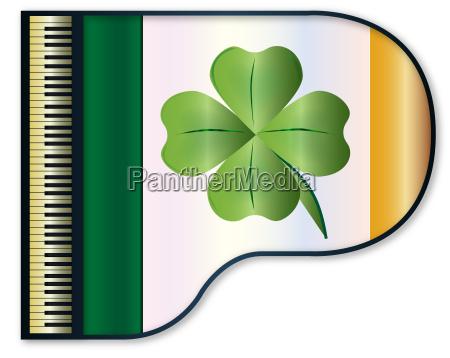 liberado musical bandera aislado piano irlanda