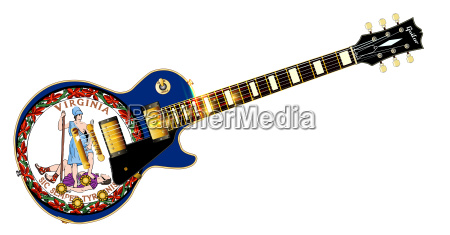 virginia state flag guitar