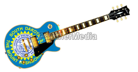 south dakota state flag guitar