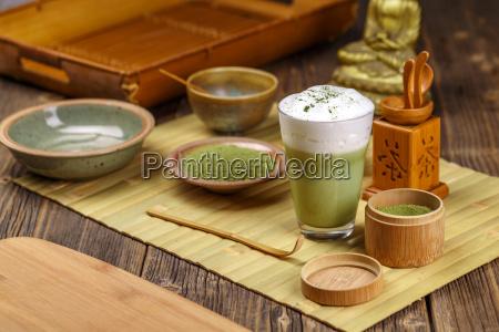 té, verde, matcha, latte - 19413138