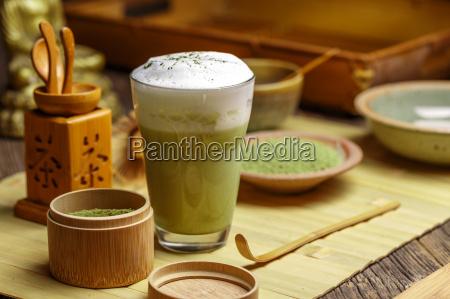 té, verde, matcha, latte - 19413142