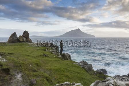 sydradalur koltur island in background faroe
