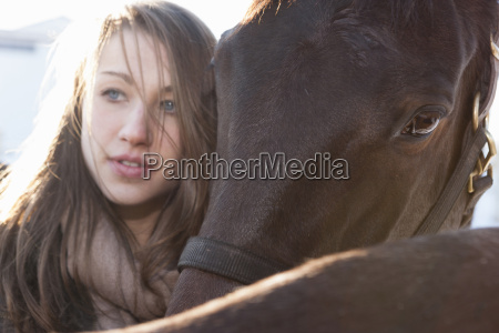 close up of young woman with