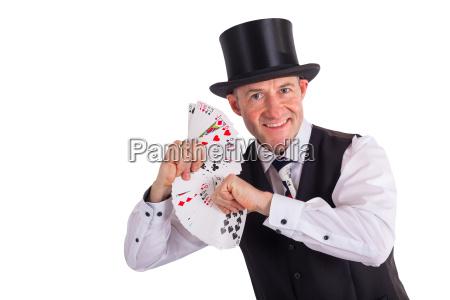 magos con cartas jugando