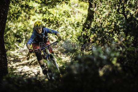 young woman mountain biking soquel demonstration