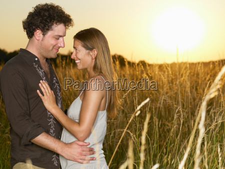 couple at sunset in a