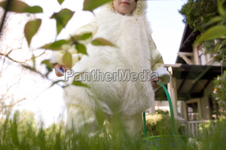 young boy dressed as easter bunny