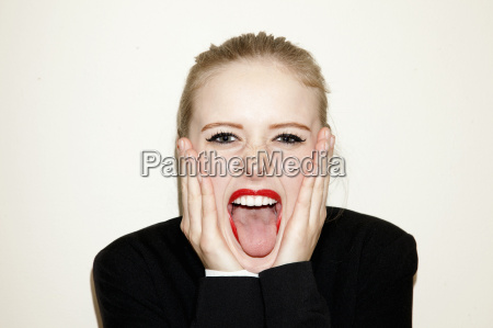 head shot of young woman with