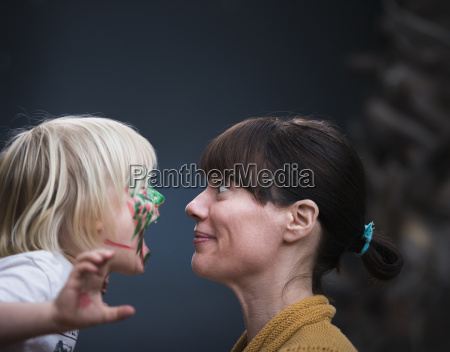 face to face portrait of mothers
