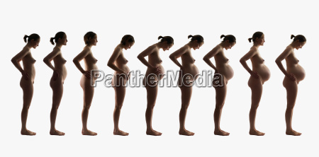 composite of 9 months of pregnancy