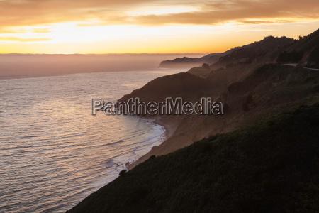 big sur national park at sunset