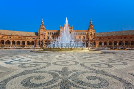 plaza de espana at sunny day