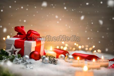 fondo de navidad con regalo y
