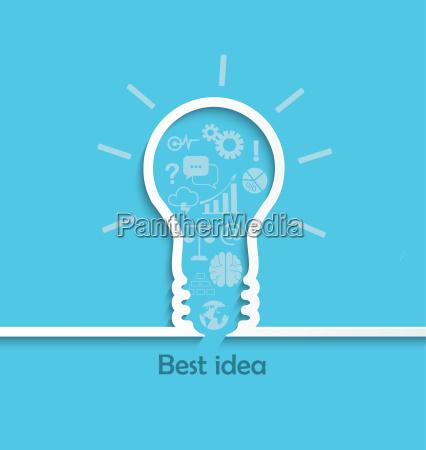 concepto de gran idea