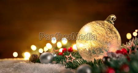 bola, de, navidad, transparente, y, decoraciones - 19608309