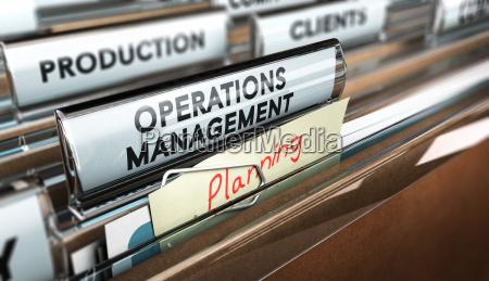 production process organization operations management