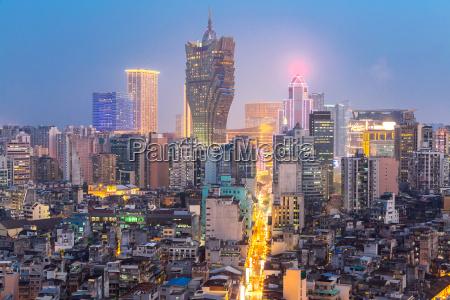 torre crepusculo horizonte china marca macao