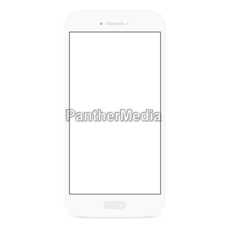 white flat phone white screen illustration