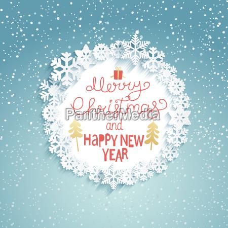navidad y anyo nuevo tarjeta de