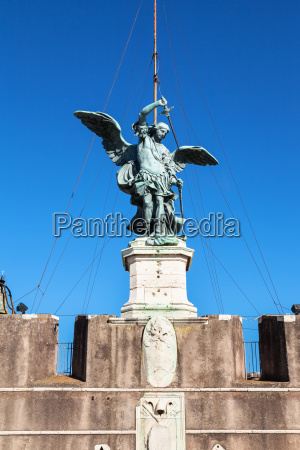 statue of michael the archangel on