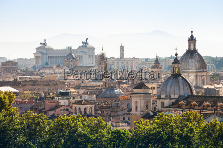 view of ancient center of rome