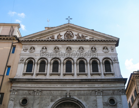 facade of santa chiara churce in