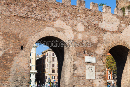gate in ancient city aurelian wall