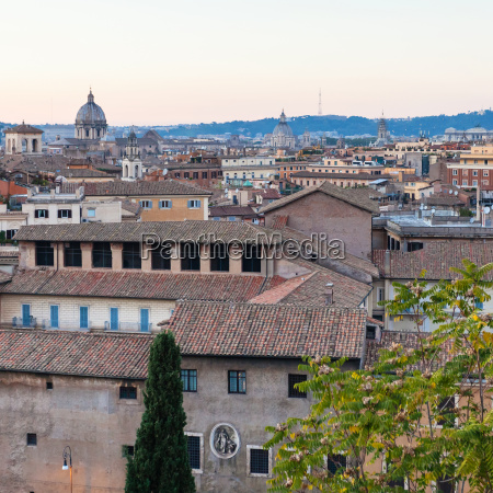 view of old rome city from