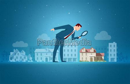 ilustracion vectorial de concepto inmobiliario