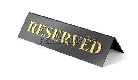 cafe restaurante placa reserva firmar reservado