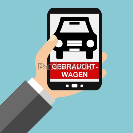used cars on the smartphone