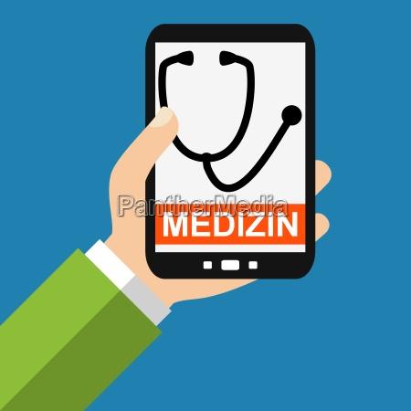 medicine with the smartphone