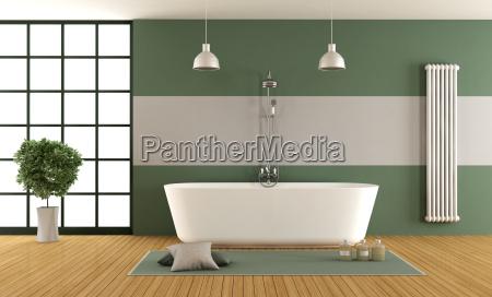 banyo de color verde y gris