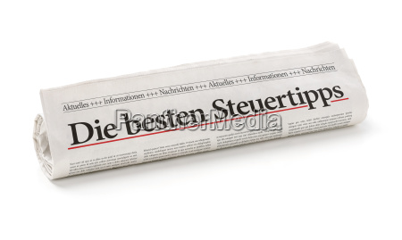 newspaper roll with the heading best
