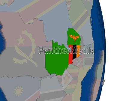 paseo viaje politicamente africa ilustracion bandera