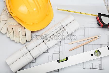 oficina escritorio herramienta objetos arquitectura construir