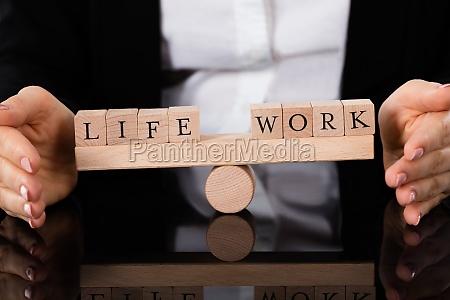 bloques de vida y trabajo equilibrio