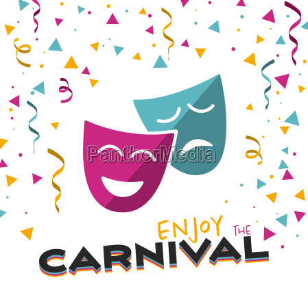 disfrute del carnaval en una ilustracion