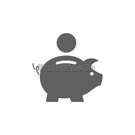 piggy bank icono