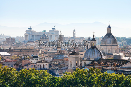 skyline of rome city in side