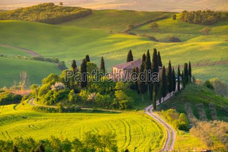 toscana paisaje panoramico italia