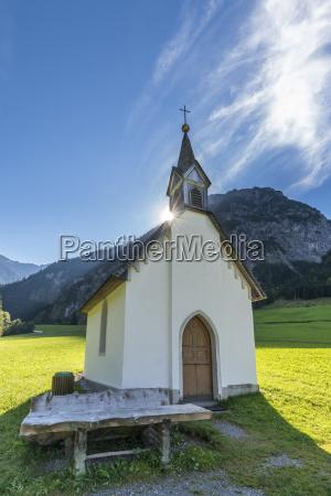 austria vorarlberg brandner valle capilla marca