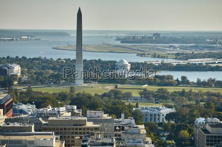 usa aerial photograph of washington dc