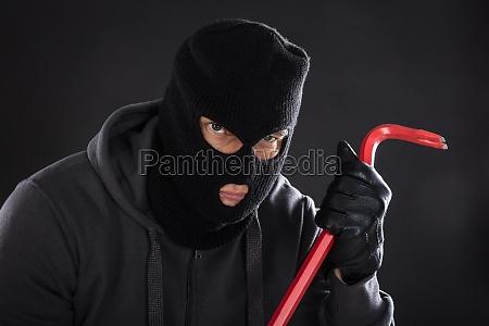 negro robo beanie la boca de