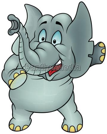 animal elefante dibujos animados