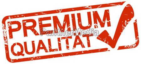 sello rojo con texto calidad premium