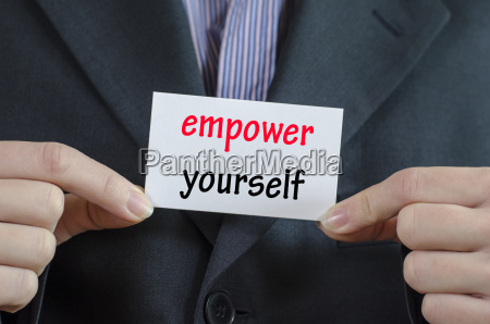 empower yourself text concept