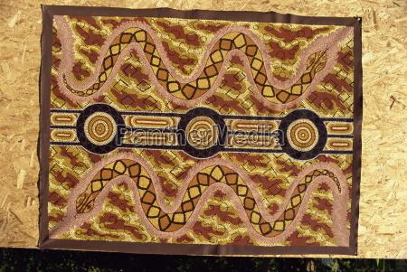 una pintura de ensuenyo con serpientes